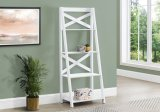 "I 2780 - BOOKCASE - 60""H / WHITE LADDER WITH 4 SHELVES By Monarch Specialties Inc"