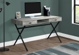 "I 7448 - COMPUTER DESK - 48""L / GREY RECLAIMED WOOD / BLACK METAL By Monarch Specialties Inc"