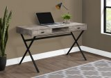 "I 7449 - COMPUTER DESK - 48""L / TAUPE RECLAIMED WOOD / BLACK METAL By Monarch Specialties Inc"