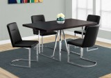 "I 1064 - DINING TABLE ONLY - 36""X 60"" / CAPPUCCINO / CHROME METAL"