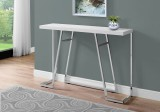 "I 3167 - ACCENT TABLE - 48""L / GLOSSY WHITE / CHROME METAL by Monarch Specialties Inc"