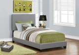 I 5912T - BED - TWIN SIZE / GREY LEATHER-LOOK