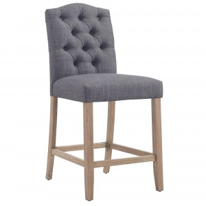 "Lucian 26"" Counter Stool in Grey"
