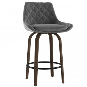 Kenzo 26'' Counter Stool in Grey By Worldwide Homefurnishings Inc