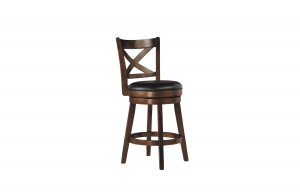 "PORTER 24"" X-BACK BAR STOOL BY WINNERS ONLY"