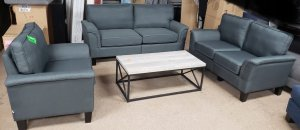 Trenton - 3 Piece - Sofa, Loveseat and Chair in Grey