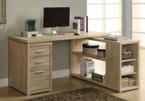 I 7219 - COMPUTER DESK - NATURAL LEFT OR RIGHT FACING CORNER By Monarch Specialties Inc