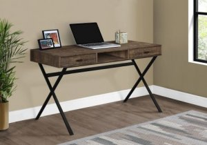 "I 7447 - COMPUTER DESK - 48""L / BROWN RECLAIMED WOOD / BLACK METAL By Monarch Specialties Inc"