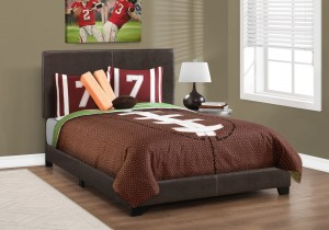 I 5910F - BED - FULL SIZE / DARK BROWN LEATHER-LOOK