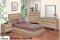 348 Series - Light Oak 5Pc Double Matesbed Bedroom Set by Dynamic Furniture