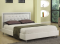 IF-161 - DOUBLE PLATFORM BED IN WHITE WITH JEWELS BY INTERNATIONAL FURNITURE